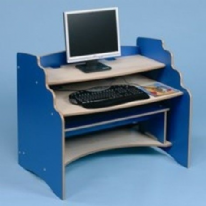 Computer Station and Bench